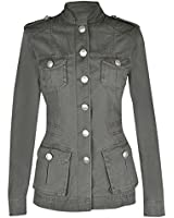 Ladies Military Style Summer Cotton Jacket