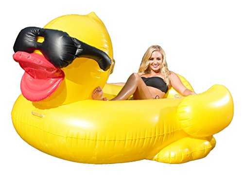 Giant Inflatable Pool Floating Duck  (with cup holders)