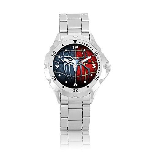 Wristwatch Men Stainless Steel Watch PSM244 Marvel The Avengers Superhero Spiderman 3 #2B