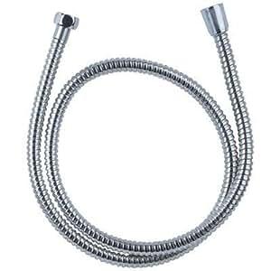 """2,5 mètre Chrome Acier inoxydable tuyau de douche Connexions BSP universelles de 1/2"""""""