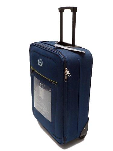 trolley clacson cm 55 x 40 x 20 bagaglio a mano semirigido impermeabile idoneo low cost ryanair blu. Black Bedroom Furniture Sets. Home Design Ideas
