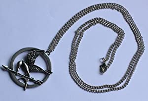 The Hunger Games Movie Mockingjay Necklace - Silver