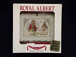 Royal Albert Old Country Roses Postcard Ornament Baby'S 1St Christmas 2001