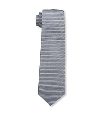 Valentino Men's Textured Stripe Tie, Grey