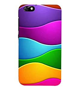 MULTICOLOURED INTERLOCKED WAVES PATTERN 3D Hard Polycarbonate Designer Back Case Cover for Huawei Honor 4X :: Huawei Glory Play 4X