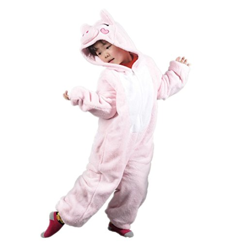 Autek Children Kid Baby Cute Animal Unisex Onesie Fancy Dress Costume Hoodies Pajamas Sleep Wear Little Pink Pig Piggy