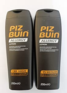 Piz Buin Allergy Duo Sun Lotion Spf 30 And Spf15  - 200Ml Each  Prevent Prickly Heat
