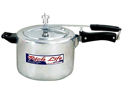 Rich Life Aluminium 5 L Pressure Cooker (Inner Lid)