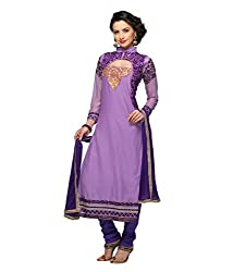 Monalisa Fabrics Women's Unstitched Dress Material (22221007_Purple_Free Size)