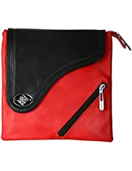 Gorgeous Women's Sling Bag (Red And Black)