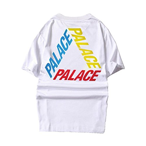 Hpyeed Parakeet Men Palace Printed Letter White Hip hop Casual Skateboards T Shirts
