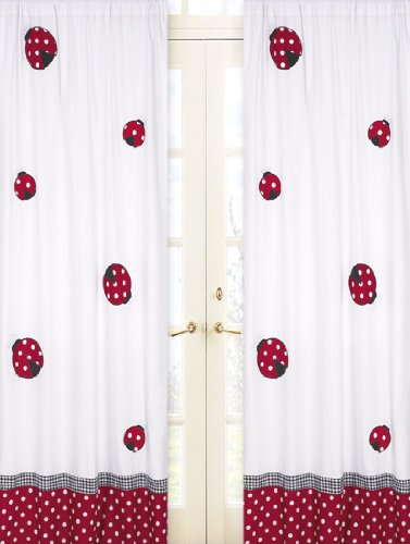 Red And White Polka Dot Ladybug Window Treatment Panels By Sweet Jojo Designs -Set Of 2 front-235713
