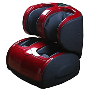 Air Pressure Leg, Foot, Ankle, and Calf Massager (Red/Black)