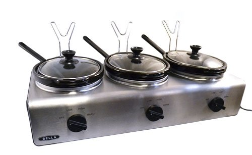 Bella Triple Slow Cooker Buffet & Server (Kitchen Servers And Buffets compare prices)