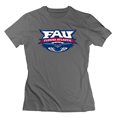 TIANYI Women Florida Atlantic University Crew Neck Tee Shirts XXL DeepHeather