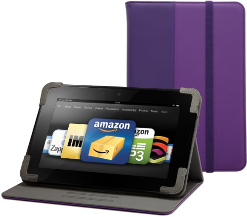 "Belkin Classic Strap Cover with Stand for Kindle Fire HD 8.9"", Purple"