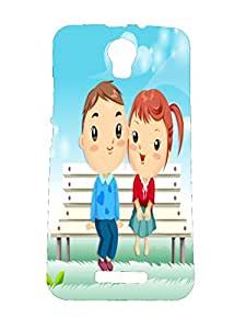 Letz Dezine Girl and Boy Printed Design Mobile Back Case Cover for Micromax Canvas Juice 2 AQ5001