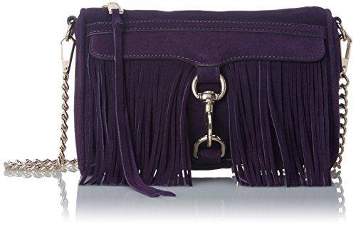 Rebecca Minkoff Fringe Mini Mac Cross Body Bag, Aubergine, One Size