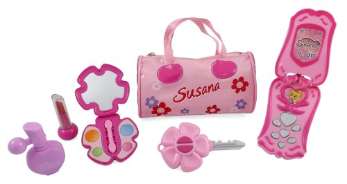 Little Princess Fashion Beauty Set for Girls with Pink Purse, Cell Phone & Accessories