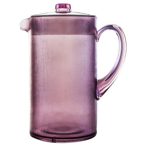 New Navigate Plastic Summer Picnic Bbq Drinks Serving Pitcher 2 Ltr Purple Jug