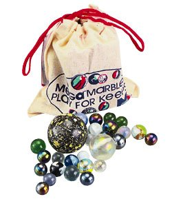 MEGA MARBLES 93808 Pouch w/Marbles & Rules MMZZ1808