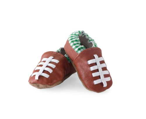 Mud Pie Baby-Boys Newborn Football Shoe Socks, Brown, 6-12 Months