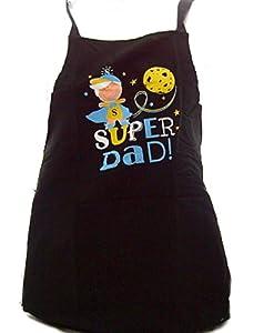 Cooksmart Super Dad Novelty Apron (black)
