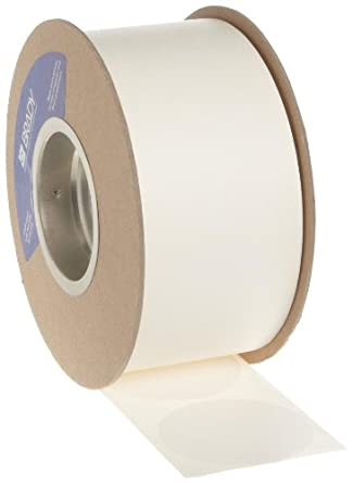 "Brady 3"" Diameter, B-933 Vinyl Tape, White Color Roll Mounted Dots for Aisle Marking (1000 Dots Per Roll)"