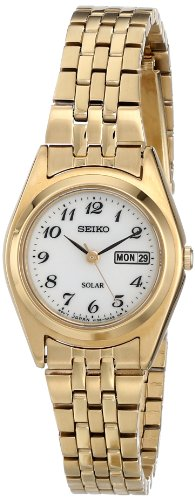 Seiko Women's SUT118 Analog Display Japanese Quartz Gold Watch