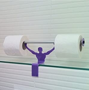Strong Man Bathroom Novelty Toilet Paper Tissue Roll Holder Purple Kitchen Home