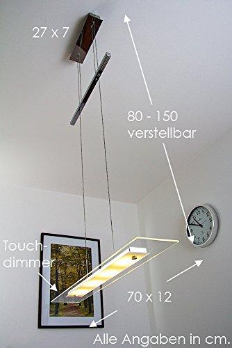 LED-Lampada-a-sospensione-metallo-cromo-vetro-satinato-design-moderno