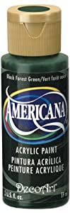 DecoArt Americana Acrylic Paint, 2-Ounce, Soft Black