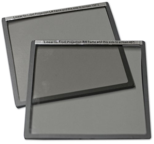 Elite Screens Inc. Zaf-Pf45L Pair Of Linear Polarized Filters For Lcd Projectors