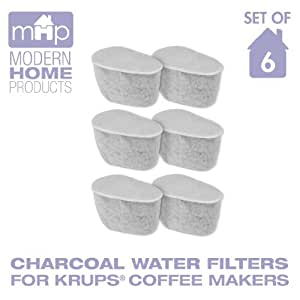 Krups Coffee Maker Replacement Filters : Amazon.com: Charcoal Water Coffee Filter Cartridges, Replaces Krups F4720057 Duo Charcoal Water ...