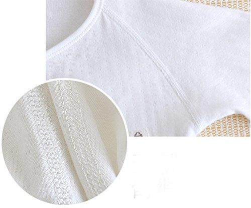 Happy Cherry Newborn Baby Cotton Thick Layette Footie Romper Small White