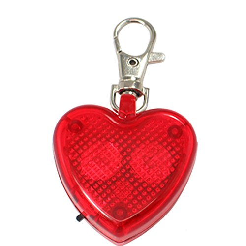 plastic-love-heart-red-lobster-clasp-flash-keychain