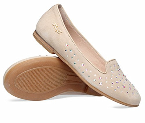 Liu Jo UB20419, ballerina camoscio, colore cicogna, STRASS, 38