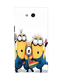 Snazzy Minions Printed Yellow Soft Silicon Back Cover For LYF Wind 4