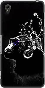 xperia z3 back case cover ,Black Monkey Tripping Designer xperia z3 hard back case cover. Slim light weight polycarbonate case with [ 3 Years WARRANTY ] Protects from scratch and Bumps & Drops.