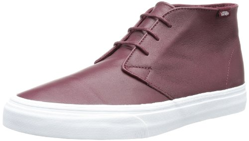 Vans Unisex - Adult U CHUKKA DECON (AGED LEATHER) Trainers Black Schwarz ((Aged Leather) port royale) Size: 35