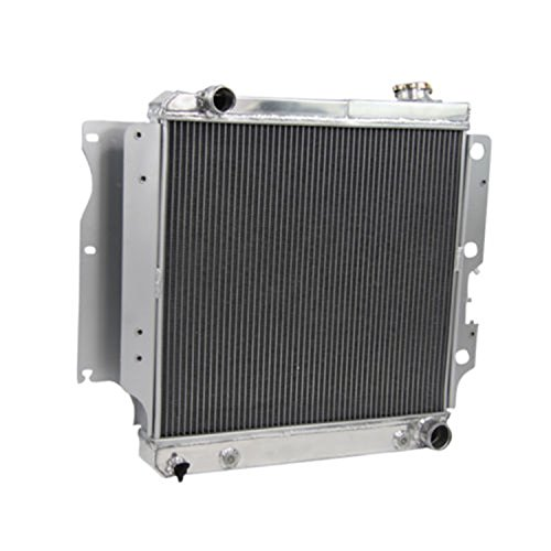 Primecooling 3 Row All Aluminum Radiator for Jeep Wrangler/ YJ ( GM Chevy V8 Engine Conversion) 1987-04 (Yj Electric Fan compare prices)