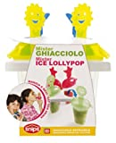 Snips Mister Ghiacciolo Mister Ice Lollypop Maker With Drip Catcher Blue and Yellow