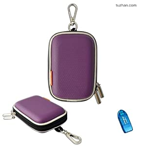 New first2savvv outdoor heavy duty purple camera case for Nikon COOLPIX S2800 with card reader