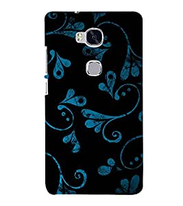 Beautiful Blue Black Pattern 3D Hard Polycarbonate Designer Back Case Cover for Huawei Honor 5X :: Huawei Honor X5 :: Huawei Honor GR5