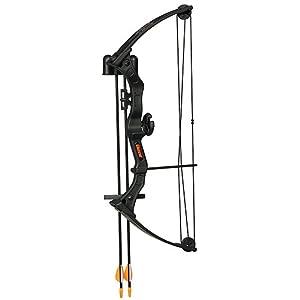 Bear Archery Right Hand Brave 3 Bow Set (Black)