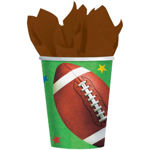 Championship Football 9oz Paper Cups 8ct - 1