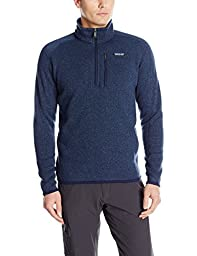 PATAGONIA Better Sweater 1/4 Zip Men\'s Top, Navy, XXL