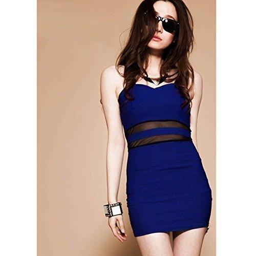 EVTECH Sexy Backless Strap-Fasciatura Package Hip donna (TM) di Stati aderenti bretelle Gonna modellante, blu, taglia unica
