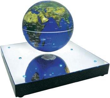 磁気の力で空中浮遊・回り続けるふしぎな地球儀 COSMIC BASE