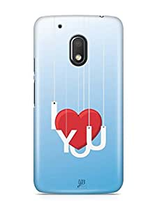 YuBingo I Love You Designer Mobile Case Back Cover for Motorola G4 Play